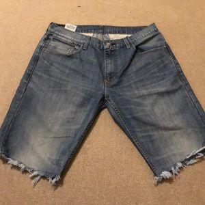 Levi's 514 Distressed Shorts